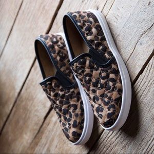 Shoes - Leopard sneakers slip on women shoes